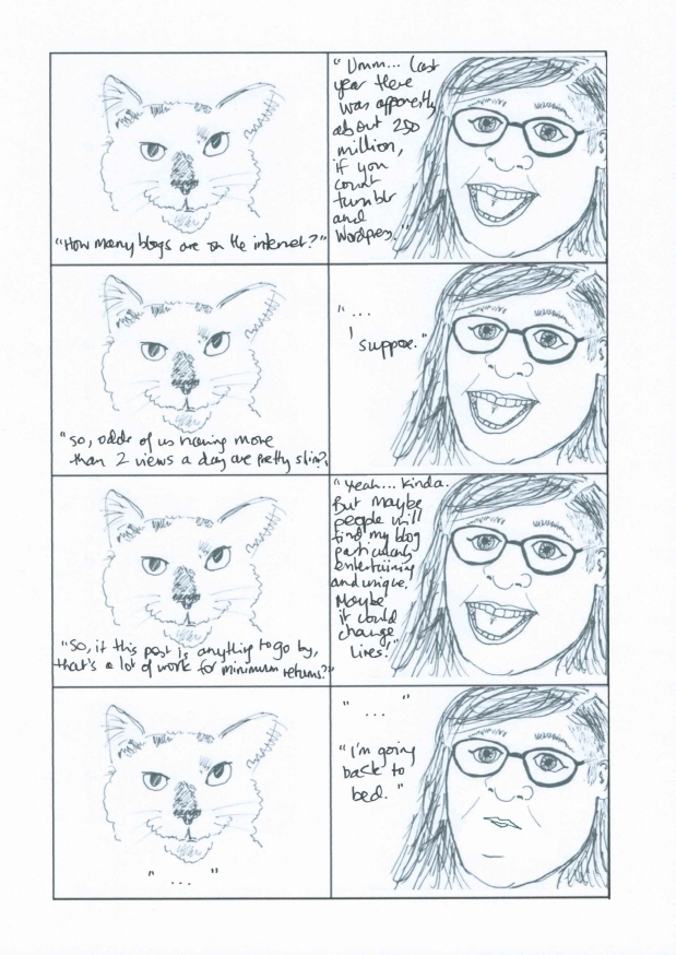 Conversations with Tilly - So, you started a blog. Part 2